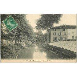 carte postale ancienne 51 SAINTE-MENEHOULD. Lavandière Bords de l'Aisne