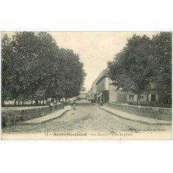carte postale ancienne 51 SAINTE-MENEHOULD. Pont de Pierre Rue Chanzy 1915