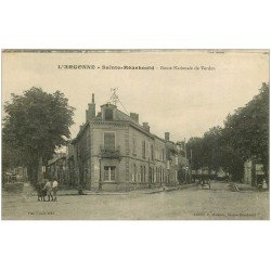 carte postale ancienne 51 SAINTE-MENEHOULD. Route Nationale de Verdun 1918