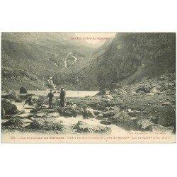 carte postale ancienne 09 LAC DU COMTE. Vallée du Mourgouillou animée