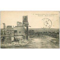 carte postale ancienne 51 SOMMEILLE. Rue du Grand Pré 1915