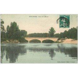 carte postale ancienne 51 SOULANGES. Pont de la Marne 1908