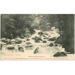 carte postale ancienne 09 Le Torrent de l'Oriège en Amont de l'Ancienne Forge d'Orlu