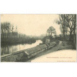 carte postale ancienne 51 VITRY-LE-FRANCOIS. La Marne