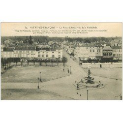 carte postale ancienne 51 VITRY-LE-FRANCOIS. Place d'Armes 1914