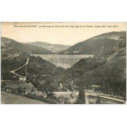 carte postale ancienne 42 BARRAGE DE CHARTRAIN dit de la Tâche 1930