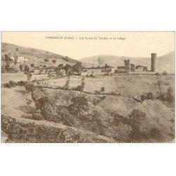 carte postale ancienne 42 CORDELLES ou CORDELLE. Tours du Verdier
