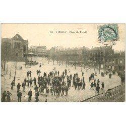 carte postale ancienne 42 FIRMINY. Place du Breuil vers 1907