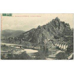 carte postale ancienne 42 LA LOIRE AU PERTUISET 1908
