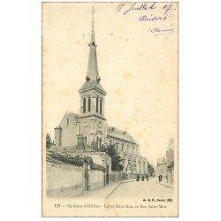 carte postale ancienne 42 LE COTEAU. Eglise Rue Saint-Marc 1907
