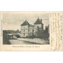 carte postale ancienne 42 LONTIGNY. Château de Châtelus 1903