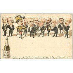 carte postale ancienne 42 MONT-PILAT à PELUSSIN. Administration des Eaux Minérales. Caricature
