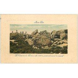 carte postale ancienne 42 MONT-PILAT. Le Crest de la Perdrix 1910