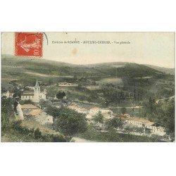 carte postale ancienne 42 MOULINS-CHERIER. Vue générale 1907