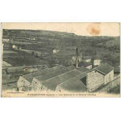 carte postale ancienne 42 PANISSIERES. Usines et Grand Champ 1924
