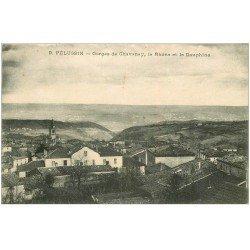 carte postale ancienne 42 PELUSSIN. Gorges de Chavany 1923