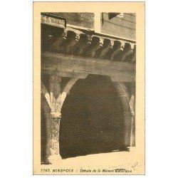 carte postale ancienne 09 MIREPOIX. Porche Maison historiquer