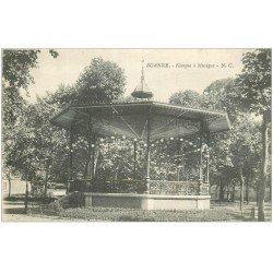 carte postale ancienne 42 ROANNE. Kiosque à Musique vers 1919