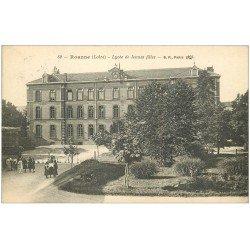 carte postale ancienne 42 ROANNE. Lycée de Jeunes Filles 1919