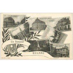 carte postale ancienne 42 ROANNE. Multivue 1932