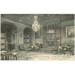 carte postale ancienne 02 CHATEAU DE MARCHAIS. Grand Salon avec Cheminée