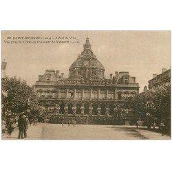 carte postale ancienne 42 SAINT-ETIENNE. Hôtel de Ville décorée