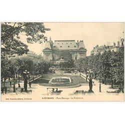 carte postale ancienne 42 SAINT-ETIENNE. La Préfecture Place Marengo 1915