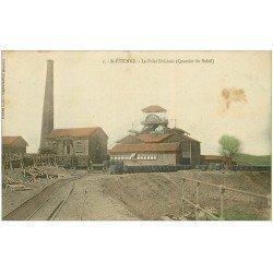 carte postale ancienne 42 SAINT-ETIENNE. Le Puits Saint-Louis. Quartier du Soleil 1911.