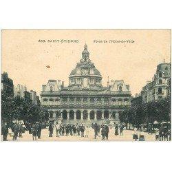 carte postale ancienne 42 SAINT-ETIENNE. Place Hôtel de Ville 1931