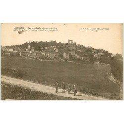 carte postale ancienne 43 ALLEGRE. Enfants avec cerceaux Route du Puy