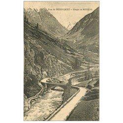 carte postale ancienne 09 Pont de BERDUQUET. Gorges de Merens
