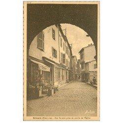 carte postale ancienne 43 BRIOUDE. Primeur rue Savaron