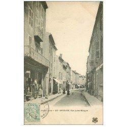 carte postale ancienne 43 BRIOUDE. Quincaillerie Rue Jules-Maigne vers 1905