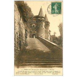 carte postale ancienne 43 CHATEAU DE LA ROCHELAMBERT vers 1912