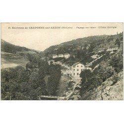 carte postale ancienne 43 CRAPONNE-SUR-ARZON. L'Usine électrique 1930