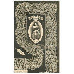 carte postale ancienne 43 DENTELLE DE CRAPONNE. Une Dentellière vers 1900