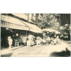 carte postale ancienne 09 SAINTE-CROIX. Hôtel et Café Monnereau