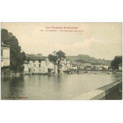 carte postale ancienne 09 SAINT-GIRONS. Les Quais