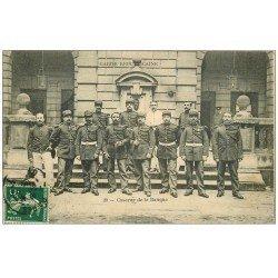 carte postale ancienne 75 PARIS 02. Garde Républicaine Caserne de la Banque 1908