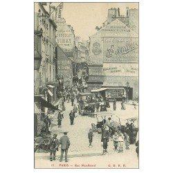 carte postale ancienne 75 PARIS 05. Rue Mouffetard.