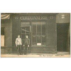 carte postale ancienne 75 PARIS 07. Cordonnerie Clausen 23 rue Surcouf