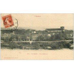 carte postale ancienne 09 SAINT-YBARS. Le Village vers 1911