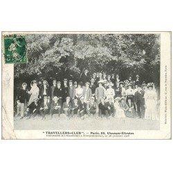carte postale ancienne 75 PARIS 08. Travellers-Club 25 Champs-Elysées. Excursion du Personnel à Fontainebleau 1908. Club