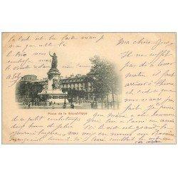 carte postale ancienne 75 PARIS 10. Place de la République 1902 pionnière