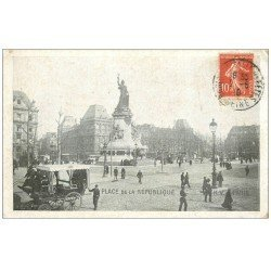 carte postale ancienne 75 PARIS 10. Place de la République 1910 K.V