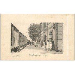 carte postale ancienne 09 SAVERDUN. La Gare