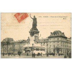 carte postale ancienne 75 PARIS 10. Place de la République MJ vers 1910