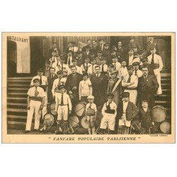 carte postale ancienne 75 PARIS. Fanfare Populaire Parisienne