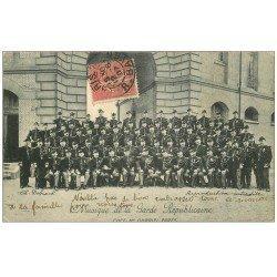 carte postale ancienne 75 PARIS. Musique de la Garde Républicaine 1907