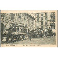 carte postale ancienne 75006 PARIS VECU. Une Station d'Omnibus